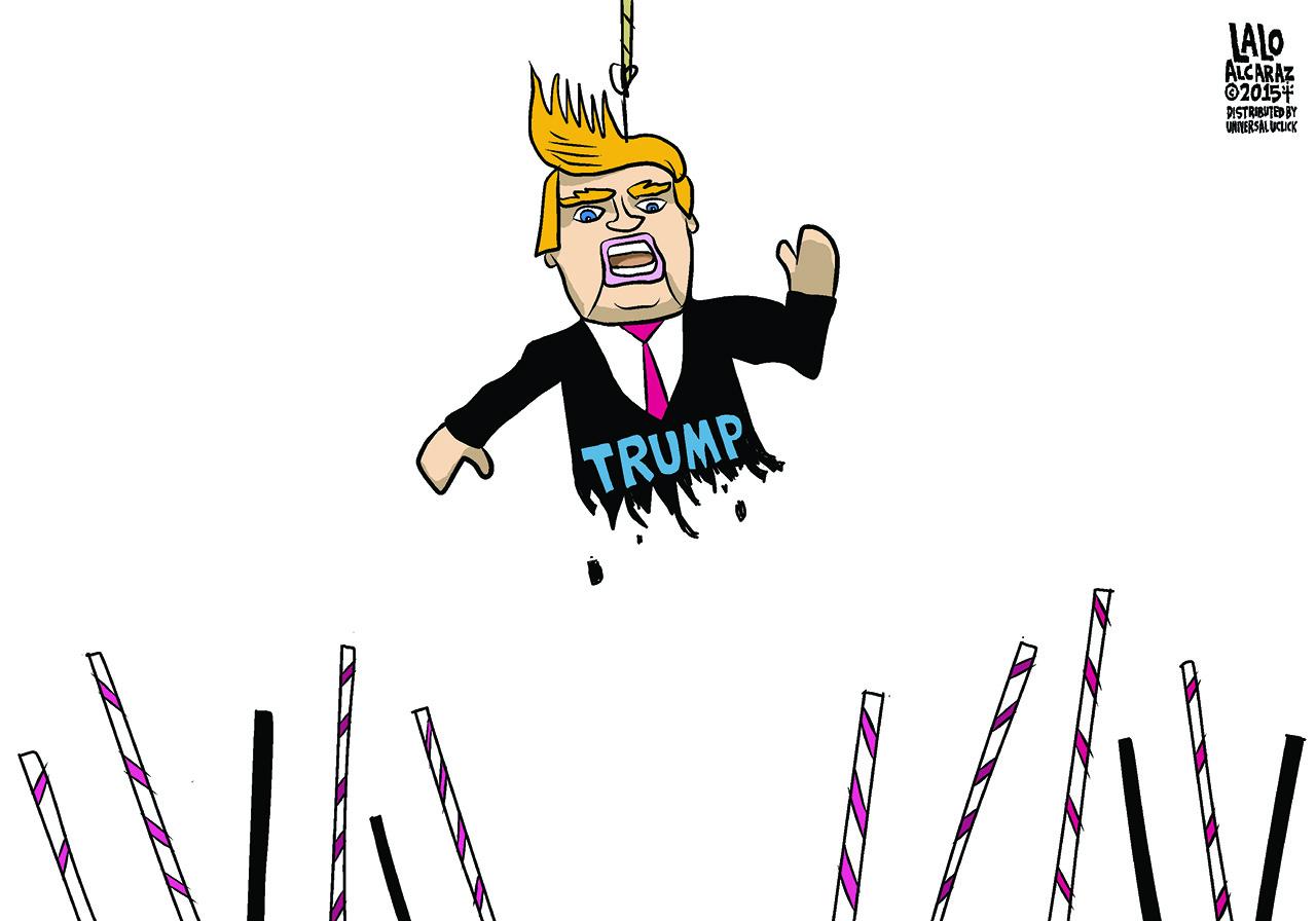 Donald Trump pinata gets beat