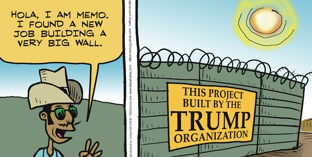 ... Cucaracha: Will Mexicans build Trump's wall? (toon, video) : POCHO