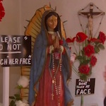 Thumbnail image for Weeping Virgin Mary statue in Fresno draws the faithful (video)
