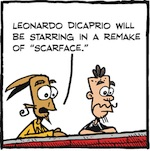 Thumbnail image for La Cucaracha: Leonardo DiCaprio cast as 'Scarface' (toon)