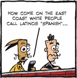 Thumbnail image for La Cucaracha: Things are different on the East Coast (toon)