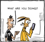 Thumbnail image for La Cucaracha: On the GO with that new smartphone game? (toon)