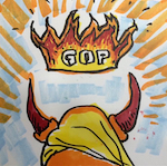 Thumbnail image for Trump crowned with 'Ring of Fire' y Johnny Cash (toon, audio)