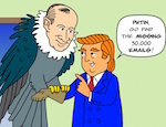 Thumbnail image for Donald and Vladimir, sitting in a tree, H-A-C-K-I-N-G (toon)