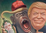 Thumbnail image for Trumpanzee: He'll sell you snake oil and rip off your face (toon)