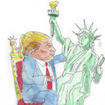 Thumbnail image for Donald Trump, defender of Lady Liberty (toon)