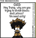Thumbnail image for The Beandocks: Why Trump tries to split Blacks and Latinos (toon)