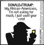 Thumbnail image for The Beandocks: Donald Trump's not a racist, he says (toon)