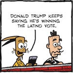 Thumbnail image for La Cucaracha: How is Donald Trump doing with Latinos? (toon)