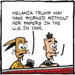 Thumbnail image for La Cucaracha: Where are Melania's immigration papers? (toon)