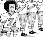 Thumbnail image for Colin Kaepernick sits for his beliefs (toon)