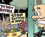 Thumbnail image for La Cucaracha: Trick or Treat candy is murder! (#TBT 2009 toon)