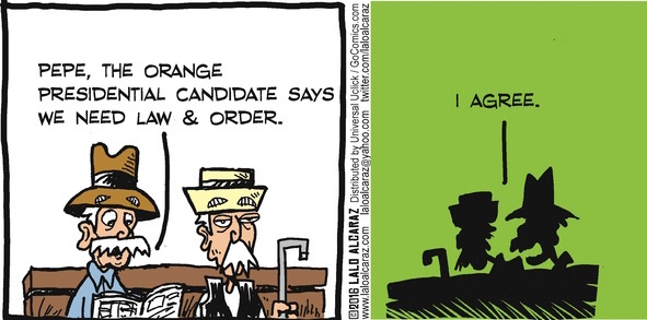 Thumbnail image for La Cucaracha: He's gonna bring back 'Law & Order'? (toon)