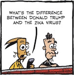Thumbnail image for La Cucaracha: What's the difference between Trump and Zika? (toon)