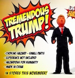 Thumbnail image for Tremendous Trump action figure 'bashes all he can with his tiny hands'