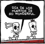 Thumbnail image for La Cucaracha: The genius of Day of the Dead (toon)