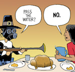 Thumbnail image for Happy Thanksgiving – but don't go near the water (toon)