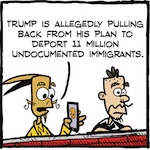 Thumbnail image for La Cucaracha: Trump backs down on deportations (toon)