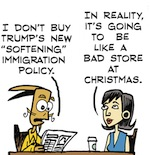 Thumbnail image for La Cucaracha: Not buying Trump's immigration policies (toon)