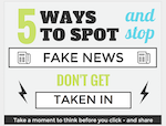 Thumbnail image for From the Harvard Library: 5 Ways to Spot Fake News (infographic)