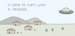 Thumbnail image for It came with a message from outer space (Poorly Drawn Lines toon)