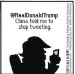 Thumbnail image for The Beandocks: China wants Trump to stop Tweeting (toon)