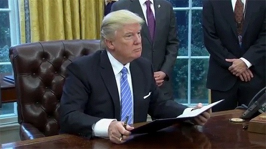 trumpsignsorder many people say trump signs the best executive orders (gif) pocho,Trump Executive Order Meme Generator