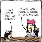 Thumbnail image for La Cucaracha: What's that pink hat you're wearing, teacher? (toon)