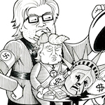 Thumbnail image for Is Cult 45 'draining the swamp' or feeding the pigs? (toon)