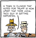 Thumbnail image for La Cucaracha: And then they came for the taco guy (toon)