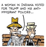 Thumbnail image for La Cucaracha: Trumpista's hubby deported – Que Karma! (toon)