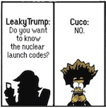Thumbnail image for The Beandocks: Oh nothing, just texting with Leaky Trump (toon)