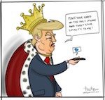 Thumbnail image for Who Knew? How to pledge loyalty to Lord Donald Trump (toon)