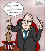 Thumbnail image for Mitch McConnell the Magician pulls healthcare out of a hat (toon)