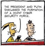 Thumbnail image for La Cucaracha: Donald Trump's cyber security task force (toon)