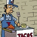 Thumbnail image for La Cucaracha: Taco Cart Guy vs Bigfoot and El Chupacabra (toon)