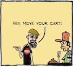 Thumbnail image for La Cucaracha: The Taco Cart Guy shall not be moved (toon)