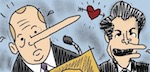 Thumbnail image for La Cucaracha misses Spicey and The Mooch. Good times! (toon)