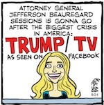 Thumbnail image for La Cucaracha: Trump TV shocker! War against white guys (toon)