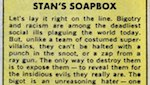 Thumbnail image for Marvel Comic's Stan Lee: 'Expose and destroy racism and bigotry'
