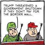 Thumbnail image for La Cucaracha: Build my wall or I'll shut down the government (toon)