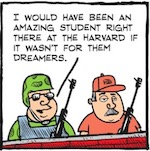 Thumbnail image for La Cucaracha: Gosh darn DREAMers are stealing our jobs! (toon)