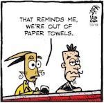 Thumbnail image for La Cucaracha: 'Drain the Swamp' with Trump® Paper Towels (toon)