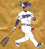 Thumbnail image for In the Corn vs Flour World Series, we're down with Los Doyers! (toon)
