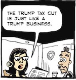 Thumbnail image for La Cucaracha: Why is Trump's tax bill like a Trump business? (toon)