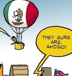 Thumbnail image for La Cucaracha: Border wall prototypes are big and beautiful (toon)