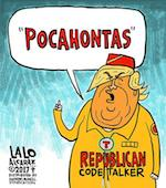 Thumbnail image for Draft Dodger Donald Trump is a GOP code-talker (toon)
