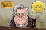 Thumbnail image for Steve Bannon testifies before Congress (toon)
