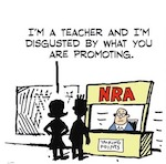 Thumbnail image for La Cucaracha: The NRA wants guns in schools and here's why (toon)