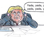 Thumbnail image for Trump reacts to official reports that Russia will hack 2018 elections (toon)
